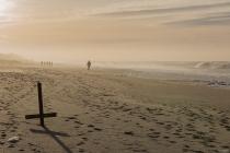 No.137 Stenbjerg mennesker på stranden